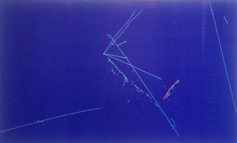 """Zeigler Neutrinon Interaction by Eric Zeigler 40"""" H x 36""""W"""